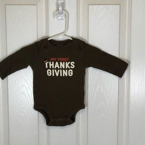Carters 3 Month Boys My First Thanksgiving Onesie